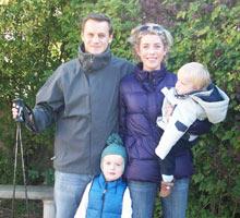 Ski clinic: Matt and Laura Elder with children
