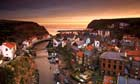 Staithes  village at sunset