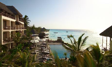 Z Hotel overlooking the Indian Ocean