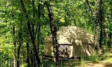 Yurt camp in Toulouse, France