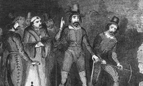 Guy Fawkes and others attempting Gunpowder Plot