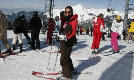 Emine Saner in Morzine