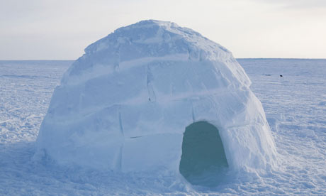 House  on It S So Cold In This House     An Igloo On Frozen Sea Ice Near