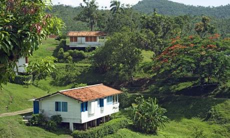 Typical bungalows in Las Terrazas, Sierra del Rosario Nature and Biosphere Reserve, Cuba