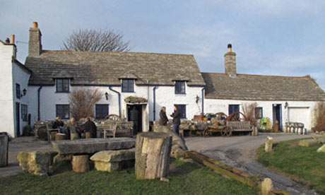 The Square and Compass village pub in Worth Matravers on the Isle of Purbeck, Dorset, England, UK
