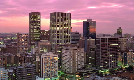 Johannesburg in the evening