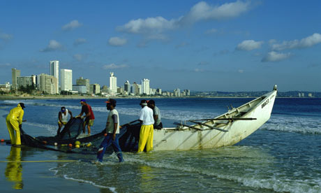 Trek fishermen on Durban beach