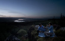 Kielder Forest night picnic, Northumberland