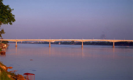 Thai-Laos Friendship Bridge over the Mekong