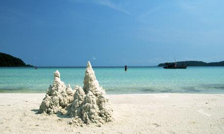 Koh Rong Sa Lem island beach Cambodia