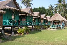 Cambodian beach huts