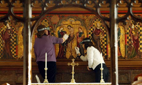 medieval altarpiece  st marys