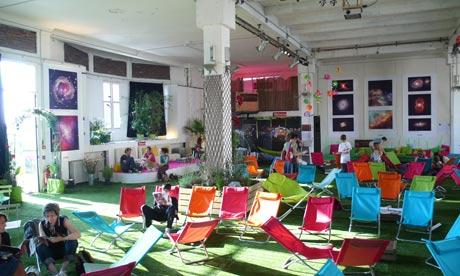 La Bellevilloise literary cafe in Paris France