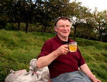 Cider with Roger Wilkins at Mudgley in Somerset