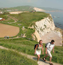Walking on the Tennyson Trail on the Isle of Wight