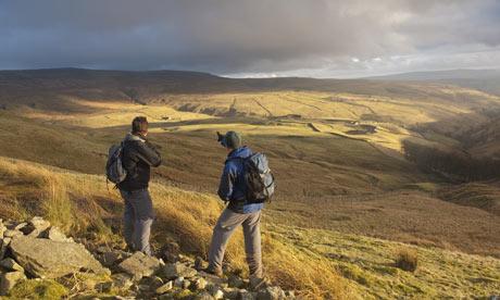 Ian Belcher walking in the Yorkshire Dales