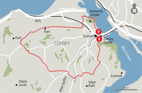 Map of Conwy walk
