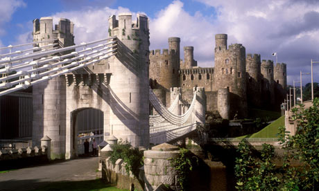 Conwy Castle and Telford's Bridge, Wales