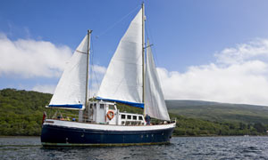 Sailing a Scottish ketch on a St Hilda's Sea Adventures holiday