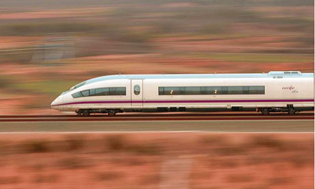 travelling high speed train spain