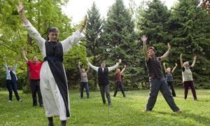 Chi kung with the nuns at Marienkron Abbey