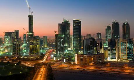 Qatar's West Bay financial district, image courtesy of The Guardian