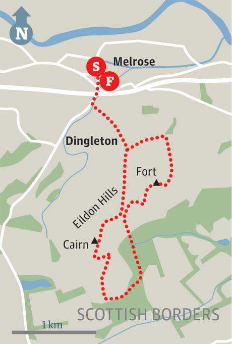 Map of Melrose walk