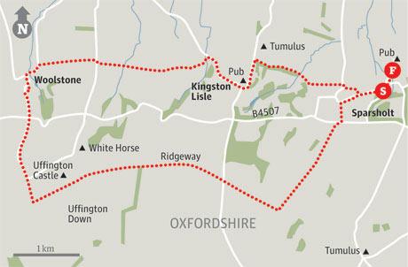 Map of Sparsholt walk