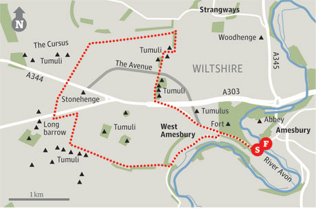 Map of Amesbury walk