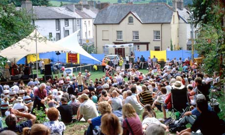 Open-air jazz in Brecon