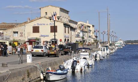 The coastal town of Marseillan, France