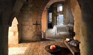 Le Grotte della Civita stone dwelling in Matera, Italy