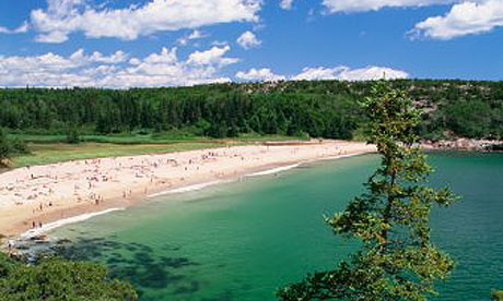 Maine beach, Acadia National Park, US