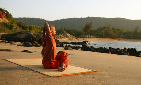 Yoga at SwaSwara retreat, Karnataka, India