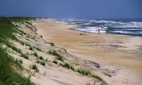 Ocracoke beach, North Carolina, US