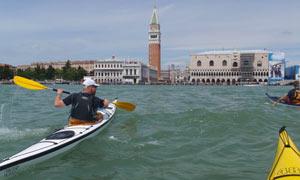 kayaking in Venice lagoon