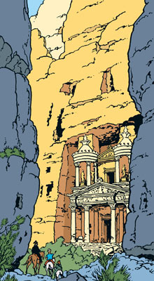 Blistering barnacles, Tintin, it's the rose-red city | Travel ...