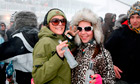 Partygoers with plenty of fuel at Rave on Snow.