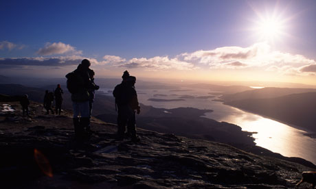 Looking out over Loch Lomond from Ben Lomond, Scotland