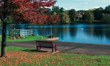 Roath Park Lake, Cardiff, Wales
