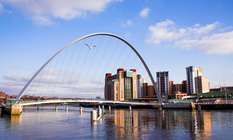 The Gateshead Millennium Bridge, Newcastle Upon Tyne