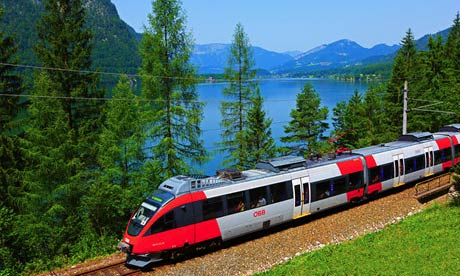Travelling by train in Austria