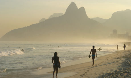 Morning on Ipanema Beach, Rio, Brazil