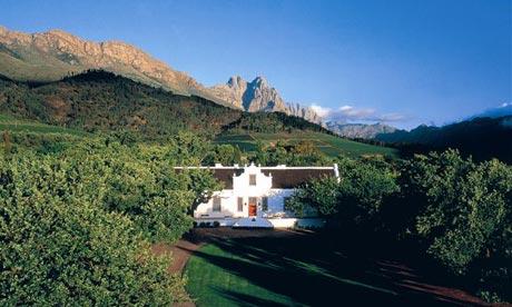 Lanzarac Manor hotel and spa near Stellenbosch.