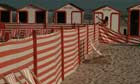 Striped Borders and Beach Chairs in De Panne, Belgium