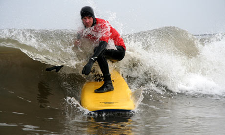 surfing in cornwall. He#39;s talking about the surf
