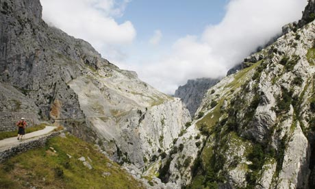 Cares walking route in the Picos de Europa, Spain