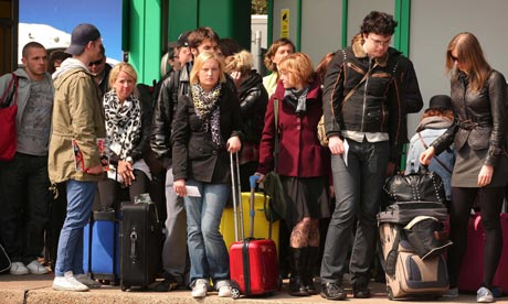 Stranded passengers due to volcanic ash