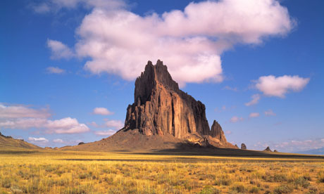 Shiprock and clouds Navajo Reservation, New Mexico