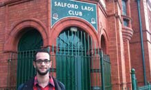 Benji Lanyado outside Salford Lad's Club, Manchester